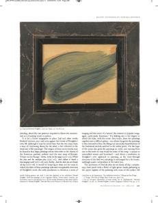 'Nature and Things. Recent Paintings by Howard Hodgkin' in: The Burlington Magazine, April 2010